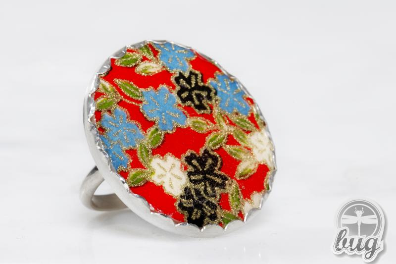 Red Floral Ring